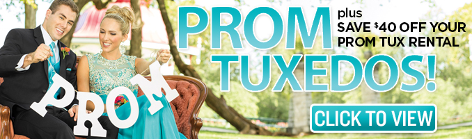 Save $40 on your Prom Tuxedo Rental
